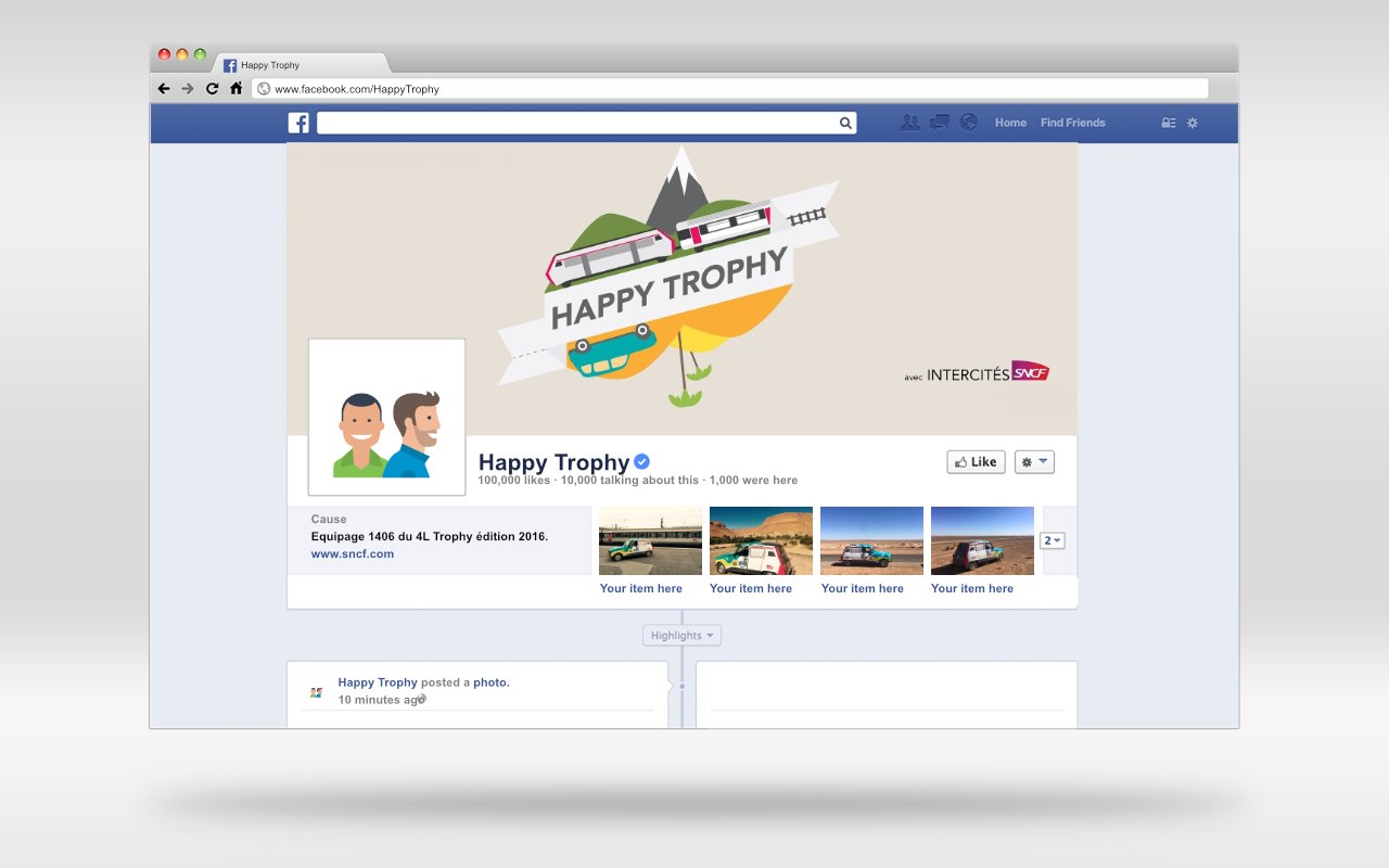 happy trophy social media